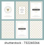 merry christmas greeting cards... | Shutterstock .eps vector #732260266