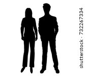 vector silhouettes of man and... | Shutterstock .eps vector #732267334