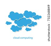 cloud computing or social...   Shutterstock .eps vector #732268849