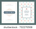christmas greeting card design... | Shutterstock .eps vector #732270508
