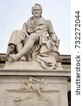 Small photo of BERLIN GERMANY 09 23 17: Statue of Alexander von Humboldt outside Humboldt University was a Prussian geographer, naturalist, explorer, and influential proponent of Romantic philosophy and science.