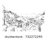 remarkable georgian landscape...   Shutterstock .eps vector #732272290