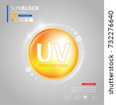 uv protection or ultraviolet... | Shutterstock .eps vector #732276640