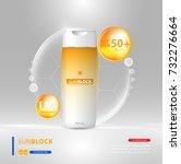 sunblock ads template  sun... | Shutterstock .eps vector #732276664
