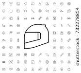 motorcycle helmet icon. set of...