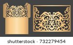 laser cut pocket envelope.... | Shutterstock .eps vector #732279454