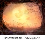thanksgiving concept  cave... | Shutterstock . vector #732283144