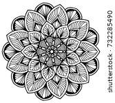 mandalas for coloring book.... | Shutterstock .eps vector #732285490