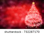 red christmas background | Shutterstock . vector #732287170