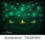 elegant illuminated oil lit... | Shutterstock .eps vector #732287890