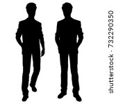 vector silhouettes of men... | Shutterstock .eps vector #732290350