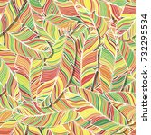 vector seamless pattern.... | Shutterstock .eps vector #732295534