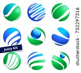 vector logo in sphere shape for ... | Shutterstock .eps vector #732297316