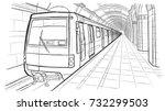 hand drawn sketch saint... | Shutterstock .eps vector #732299503