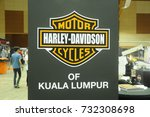 Small photo of SERDANG, MALAYSIA -JULY 29, 2017: Harley-Davidson Cycle of Kuala Lumpur official logo printed at wall. The mark for this brand is officially here.