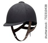 classic jockey helmet for horse ... | Shutterstock . vector #732310438