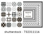 collection of 20 black... | Shutterstock .eps vector #732311116