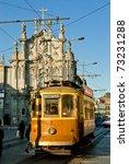 historical street car in porto  ... | Shutterstock . vector #73231288