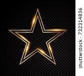 vector star frame. shining... | Shutterstock .eps vector #732314836