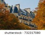 paris residential buildings... | Shutterstock . vector #732317080