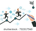 path to the goal business man....   Shutterstock .eps vector #732317560