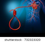 heart attack concept and...   Shutterstock . vector #732323320