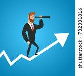 businessmen standing on growth... | Shutterstock .eps vector #732331816