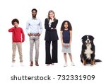happy family full body | Shutterstock . vector #732331909