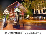 night view of historic steam... | Shutterstock . vector #732331948