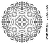 mandala isolated design element ... | Shutterstock .eps vector #732333229
