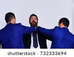 coworkers decide upon best... | Shutterstock . vector #732333694