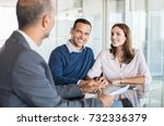 mature financial advisor... | Shutterstock . vector #732336379
