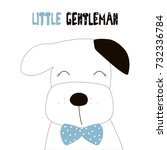 little gentleman fashion slogan ... | Shutterstock .eps vector #732336784