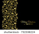 merry christmas and happy new... | Shutterstock .eps vector #732338224