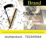 luxury mascara ads  black and... | Shutterstock .eps vector #732345064
