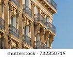 paris residential buildings.... | Shutterstock . vector #732350719