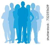 team illustration  group of... | Shutterstock .eps vector #732355639
