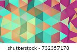 multicolor low poly surface.... | Shutterstock . vector #732357178