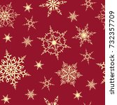 snowflakes seamless pattern....   Shutterstock .eps vector #732357709