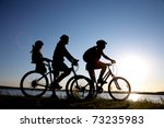 young family go for a cycle...   Shutterstock . vector #73235983
