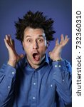 funny portraits of a guy who... | Shutterstock . vector #732360310