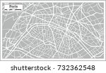 paris map in retro style. hand... | Shutterstock .eps vector #732362548