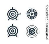 successful shoot. target set... | Shutterstock .eps vector #732363973