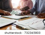 business team meeting and... | Shutterstock . vector #732365803