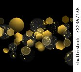 vector glittery golden abstract ... | Shutterstock .eps vector #732367168