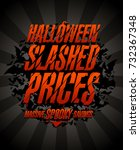 halloween slashed prices ... | Shutterstock .eps vector #732367348