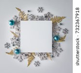 creative christmas layout made... | Shutterstock . vector #732367918