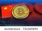 3d illustration of bitcoin over ...   Shutterstock . vector #732369694