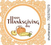 thanksgiving day poster with... | Shutterstock .eps vector #732370273