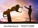 industry 4.0 technology  ... | Shutterstock . vector #732371308